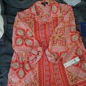 Rafaella Tops - Multi colored button down shirt